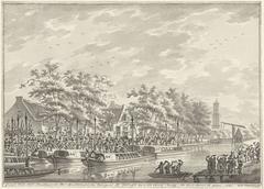 Aankomst van de Amsterdammers in Utrecht, 1787