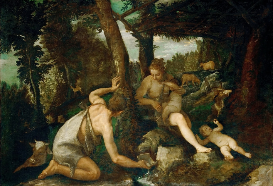 Adam and Eve after the Expulsion from Paradise