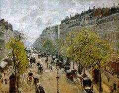 Boulevard Montmarte, in Spring - Boulevard Montmartre, au Printemps