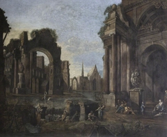Capriccio of Antique Ruins and a Distant Town