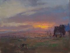 Cat. No. 1129 Sunset Over Zhaosu Grass Plains