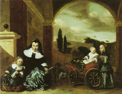 Christina Lepper de Kempenaer and Her Children