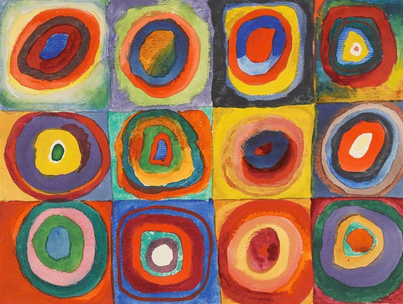 Color Study, Squares with Concentric Circles