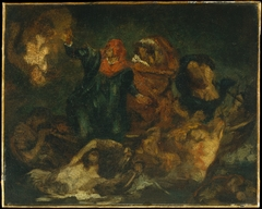 "Copy after Delacroix's ""Bark of Dante"""