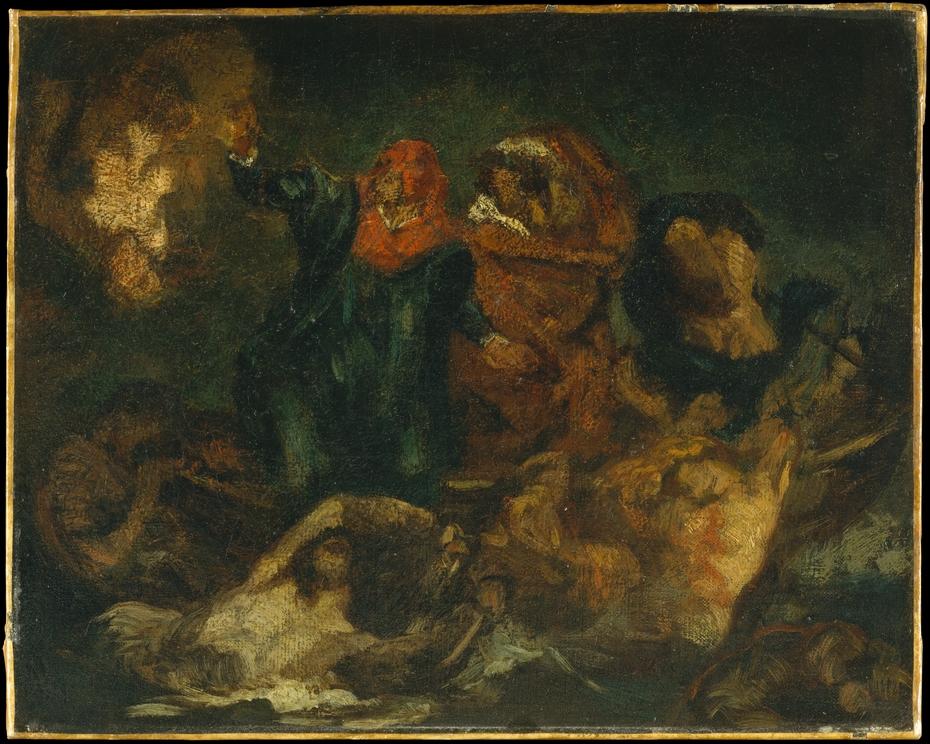 """Copy after Delacroix's """"Bark of Dante"""""""