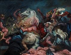 Copy after Rubens: The death of Decius Mus (Prado, Madrid)
