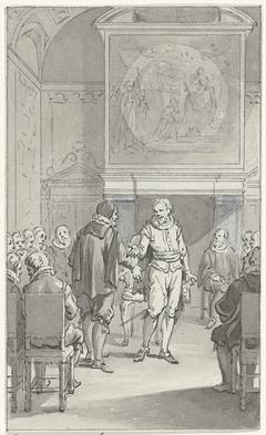 Cornelis Pietersz. Hooft spreekt Prins Maurits aan over de regeringsverandering van Amsterdam, 3 november 1618