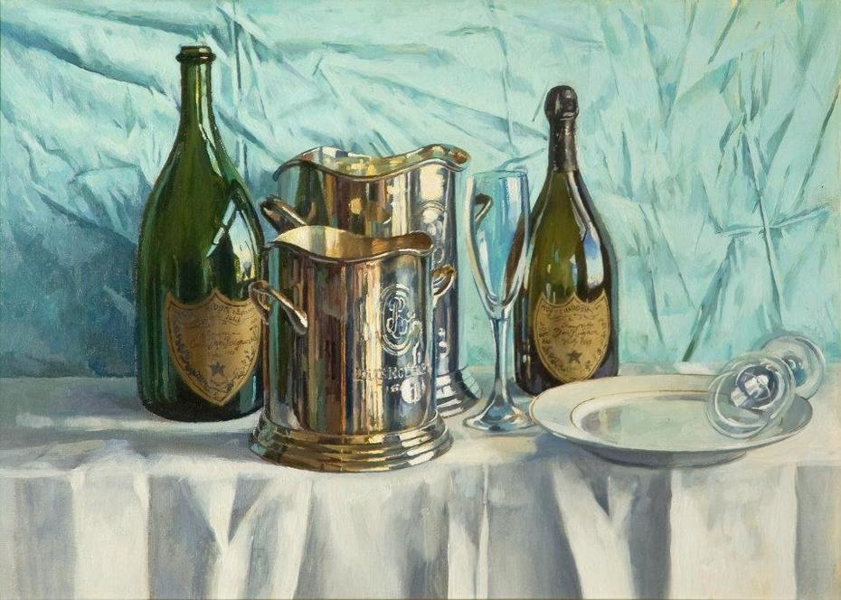 Dom Perignon and Empty Glasses