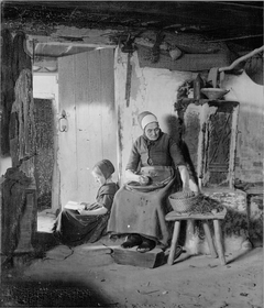 Domestic Scene in a Poor Peasant's Living-Room