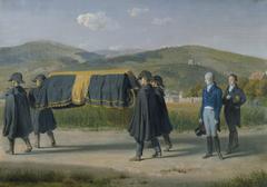 Emperor Francis I accompanies a pauper's coffin