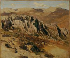 Felsenlandschaft bei Olevano