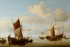 Fishing Boats on a Calm Sea
