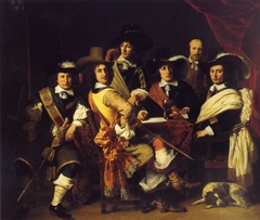 Five officers of the Gouda city militia