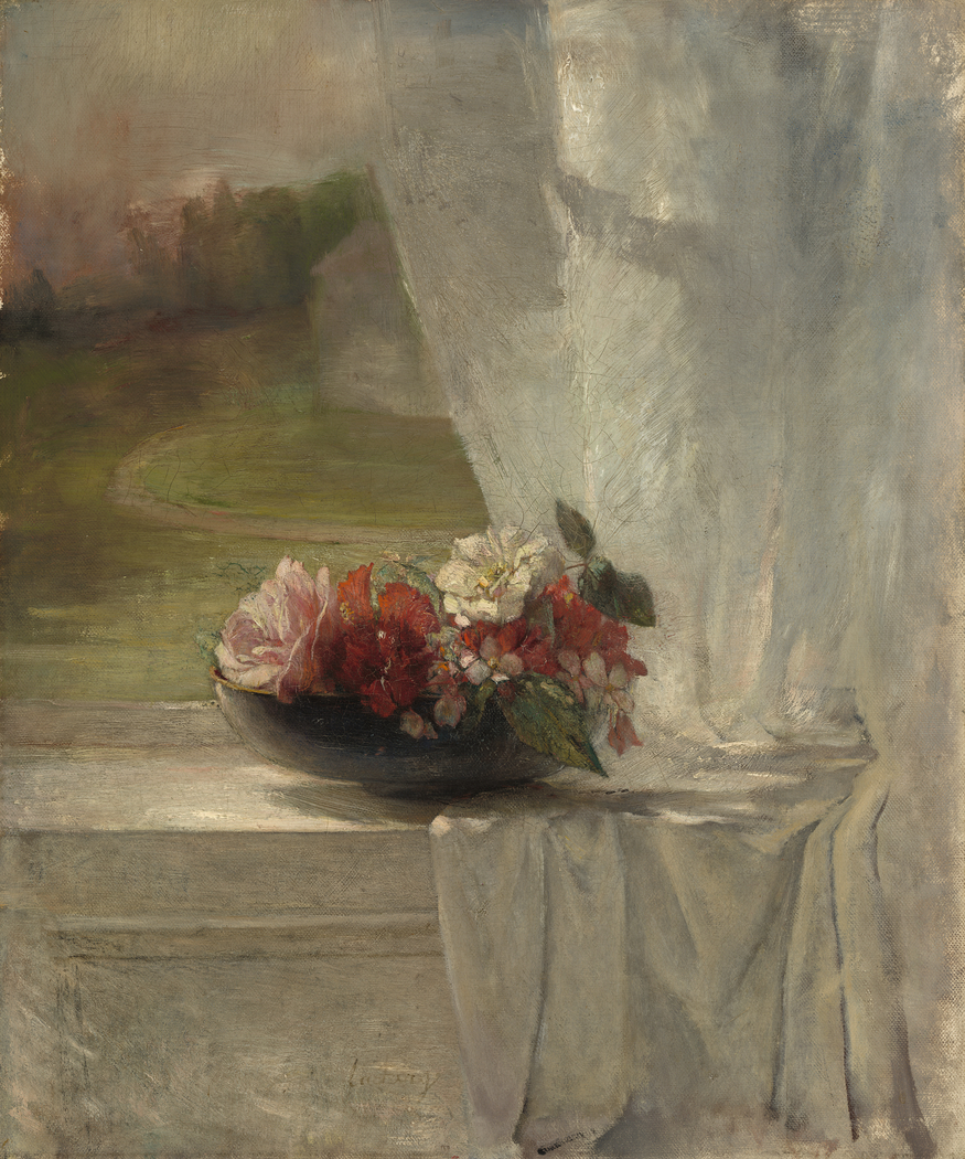 Flowers on a Window Ledge