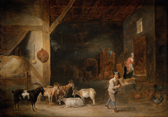 Goat Barn with Flute-player