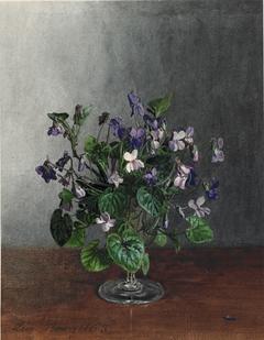 Goblet with Violets