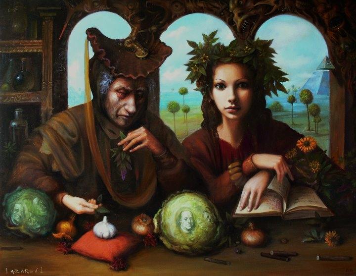 Зеленщик и жена его Флора / Greengrocer and his wife Flora