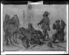 Group of Men and Horse