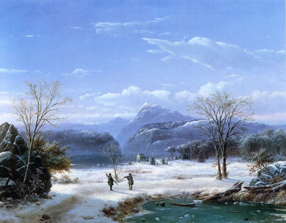 Hunters in a Winter Landscape