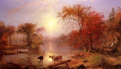 Indian Summer on the Hudson River