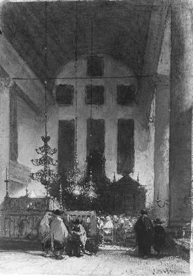 Interior of the Portuguese Synagogue