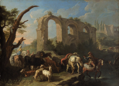 Italian Landscape with Horses and Herdsmen