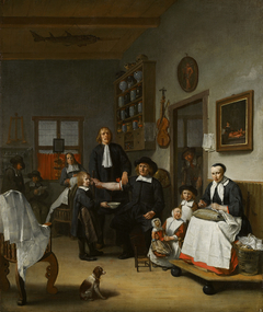 Jacob Franszn (ca. 1635-1708) and his family in the surgeon's shop
