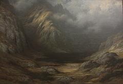 Lac en Écosse après l'orage