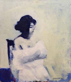 Lady on Blue Chair