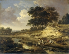 Landscape with a Rider Watering his Horse at a Brook