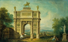 Landscape with a Triumphal Arch to George II