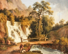 Landscape with a Waterfall and a Cowherd