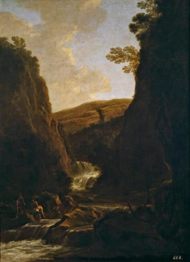 Landscape with Fishermen and Shepherds on a Riverbank