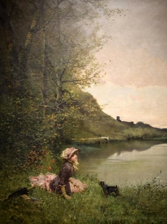Landscape with Woman and Dog
