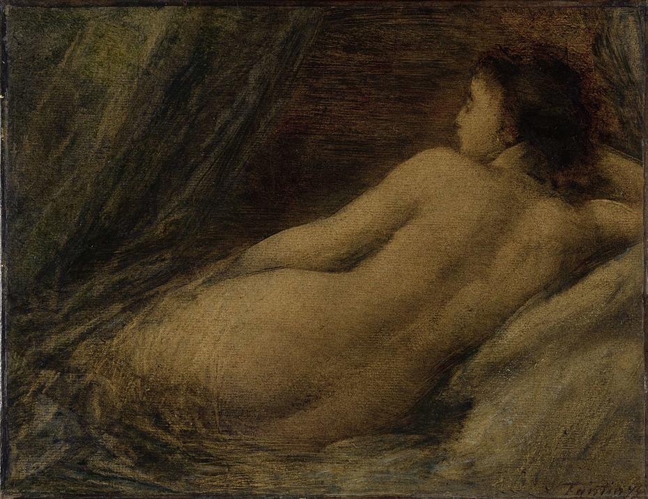 Liggende naakte vrouw