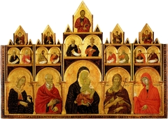 Madonna and Child with saints polyptych