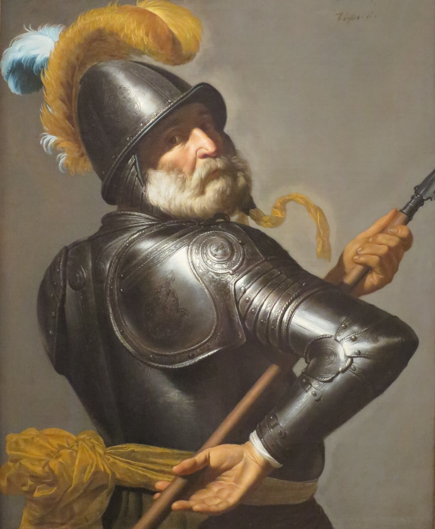 Man in Armour Holding a Pike