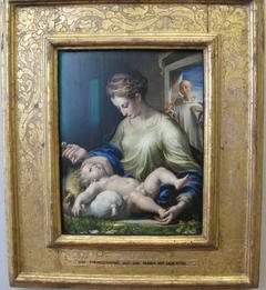 Maria mit dem Kind und dem hl. Bruno