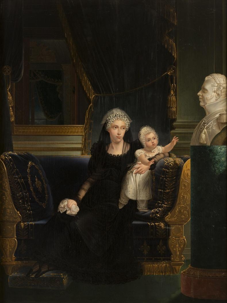 Marie-Caroline de Bourbon-Sicile, duchesse de Berry et sa fille Louise-Marie-Thérèse