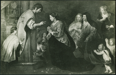 Mary receives her last communion from John the Evangelist