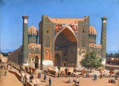 Medrasah Shir-Dhor at Registan place in Samarkand