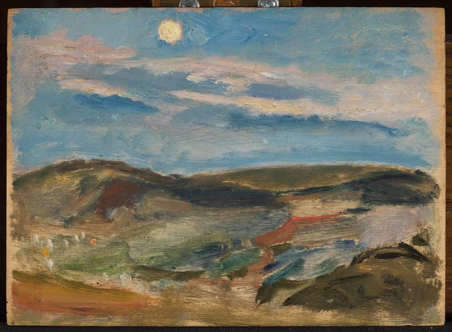Moonlit hill