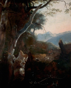 Mountainous Landscape with Peasants, Cows and Goats