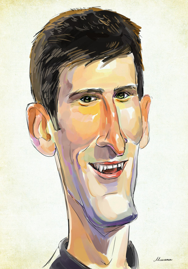 Novak Djokovic Milena Gaytandzhieva Artwork On Useum