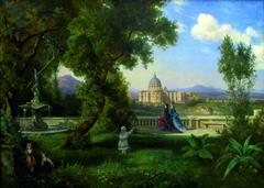 Park mit Blick auf den Petersdom