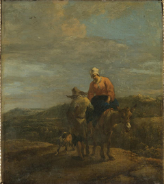 Peasants on a Road with a Mule