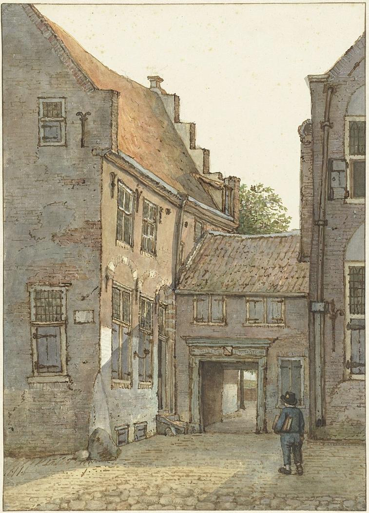 Poortje van Oude Gymnasium te Utrecht