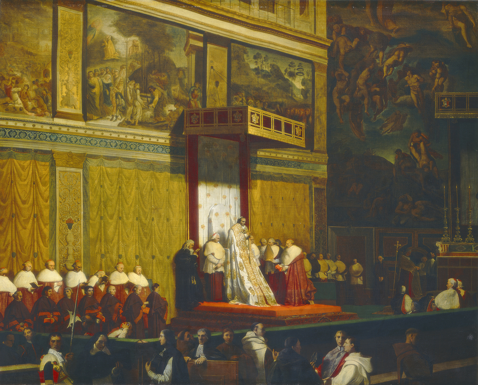 Pope Pius VII in the Sistine Chapel