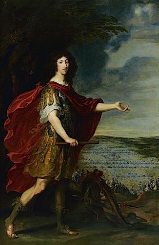 Portrait du Grand Condé devant le champ de bataille de Rocroi (19 mai 1643)