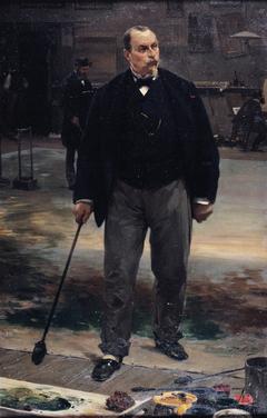 Portrait du peintre Rubé, décorateur de l'Opéra